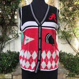 University of Alabama Knit Sweater Vest Womens